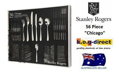 STANLEY ROGERS CHICAGO 56 Piece Cutlery Set Stainless Steel 25 Year Guarantee