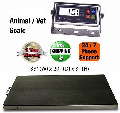 New 300kg/ 660lb Vet Scale/Animal Scale Livestock Scale Stainless Steel Platter
