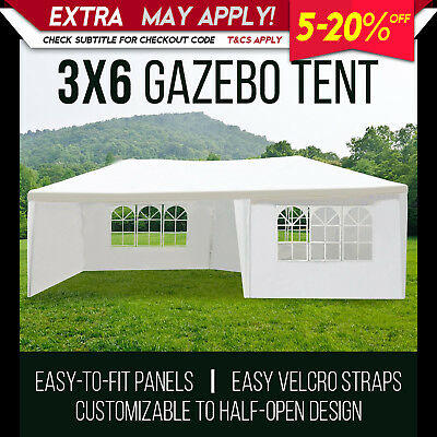 Perfect Oasis 3x6 White Gazebo Tent Canopy Outdoor Wedding Event Shade Marquee