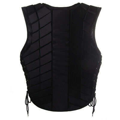 Adult Black Breathable Safety Equestrian Horse Riding Body Protector Vest