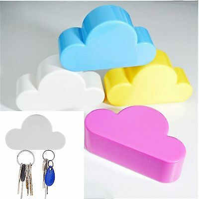 1PC Kit Lovely Cloud Shape Magnetic Key Hook Wall Hangers Holder Home Decoration