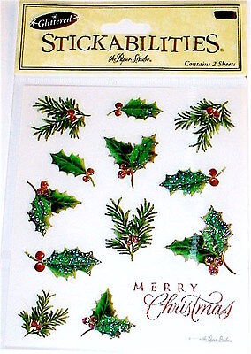 The Paper Studio Stick-A-Bilities Stickers ~Christmas Holly