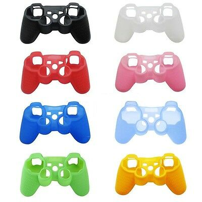 Silicone Protective Skin Case Cover For Sony PS3 Wireless Game Controller Joypad