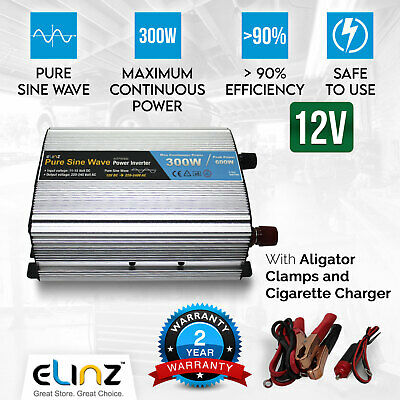 300W/600W Pure Sine Wave Power Inverter 12v-240v AUS plug USB Car Boat Caravan