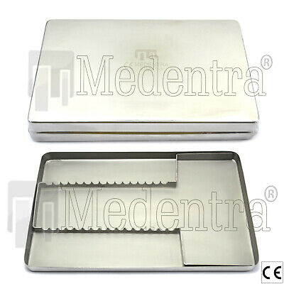 MEDENTRA Stainless Steel Box tray for Instruments Set Up Dental Surgical Lab New