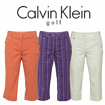 50% OFF New Clavin Klein Stripe Check Capri Short Trouser Golf Ladies Womens