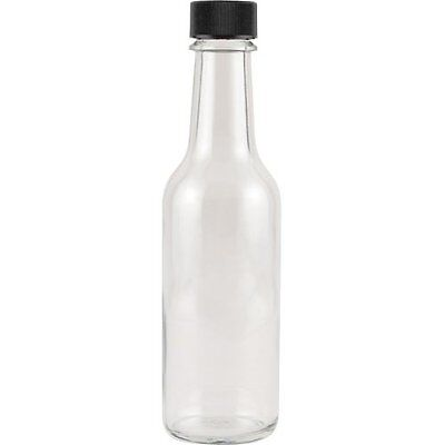 Hot Sauce Clear Glass Dasher Bottle - Empty - 5 oz - 6 Pack
