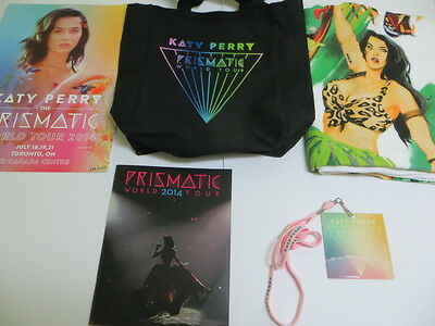 Katy Perry Prismatic Tour VIP Package Ltd Ed 5 VIP Items Laminate Towel Program+