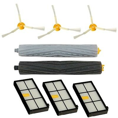 Tangle-free Side Brush Filter Debris Extractor Set For irobot Roomba 800 870 880
