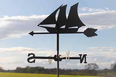 Standard Schooner Metal Weathervane (Vertical Fixing Bracket)