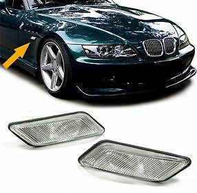 Pair Of Clear Side Indicators Repeaters For Bmw Z3 1995-2002 Nice Gift