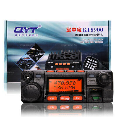 QYT KT-8900 Dual-Band 25W VHF UHF Car/Truck Ham Mobile Transceiver Two Way Radio