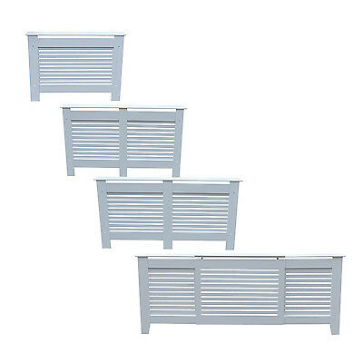 Radiator Cover Cabinet Shelf White Wood MDF In Small, Medium, Large, Adjustable
