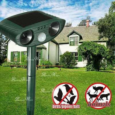 Repellent Solar Cat Repeller Scarer Dual Ultra Deterrent Garden Animal Chaser UK