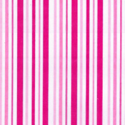 Printed Polyester Cotton - Pink - Stripes