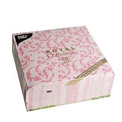 50 PapStar Royal Collection Damascato fuchsia Ornament Servietten 40x40 Hochzeit