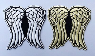 (2 pieces) Daryl Dixon Wings Patches The Walking Dead Embroidered Iron on Patch