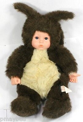 "1998 Anne Geddes Baby Squirrel Doll - Plush Stuffed Animal 15"" F183P"