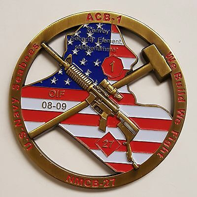 """US Navy Seabees OIF  Convoy Security Element Sledgehammer ACB-1 NMCB-27 3"""""""