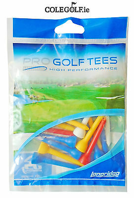 Longridge 20 Mixed Long Plastic Golf Tees - 54mm