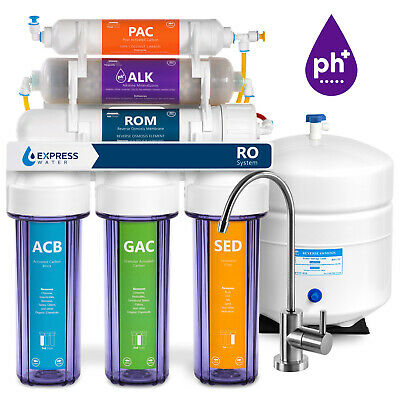 10 Stage Undersink Alkaline pH+ Reverse Osmosis RO Water Filter System 50 GPD