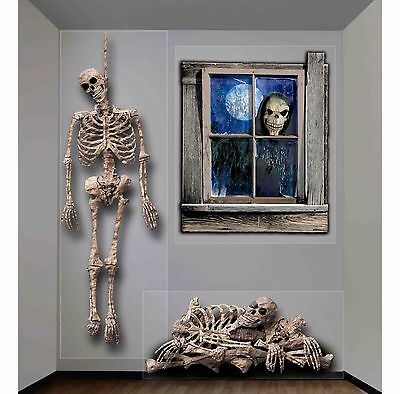 Halloween Haunted House Wall Decoration Home Party Indoor Outdoor Ghastly Decor
