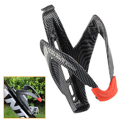 Glass Carbon Fiber Road Bicycle Bike Cycling MTB Water Bottle Holder Rack Cage