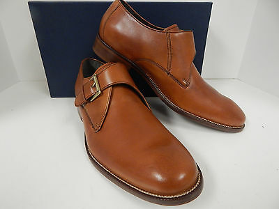 Cole Haan Williams British Tan Leather Monk Strap With Combination Soles-New