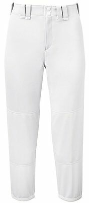 NEW Mizuno Select Women White Fastpitch Belted Low Rise Pant 350150