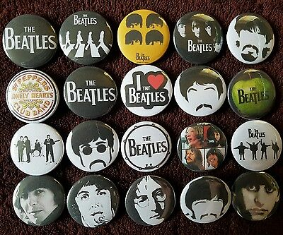 The Beatles Button Badges x 20. Pins.  Wholesale. Collector. Bargain :0)