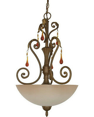 Hanging Pendant Chandelier Light Golden Finish charms Foyer Entry Hall Bedroom