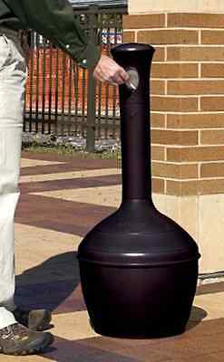 Elite Smoker Cease Fire Butt 4 Gal/15L Jet black No-Rust Polyethylene Receptacle