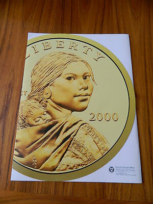 """""""Rare"""" Sacagawea U.S. Mint Brochure Supporting The Coin Launch in the year 2000"""