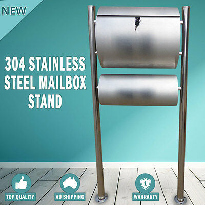 NEW 304 Stainless Steel Townhouse Mailbox Letterbox Post Box Stand