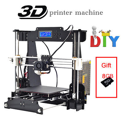LCD A8 Arcycle Precision DIY Reprap Prusa i3 3D Printer with 8GB TF card as gift