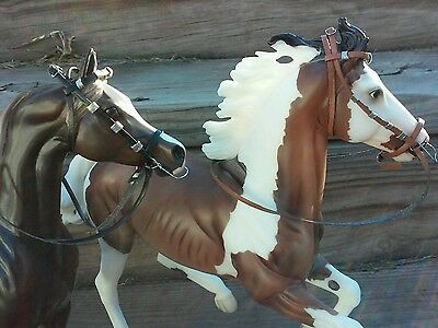 Breyer Marx Stone Hartland  horse custom two bridles parade