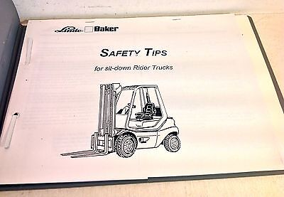 Linde Fork Lift Truck Operating Instructions Manual H20-3 H25-3 H30-3 H35-3(4225
