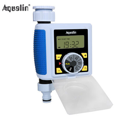 Digital Programmable Single Outlet Automatic Water Faucet Hose Timer Large LCD