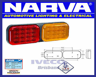 Narva Model 41 LED Rear Direction Indicator and Stop/Tail Lamp 9-33 Volt 94160BL