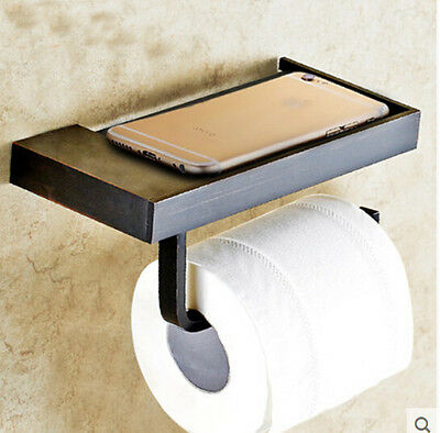 New Wall Mounted Oil Rubbed Bronze Bathroom Toilet Paper Holder Tissue Bar