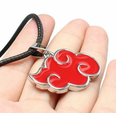 FD4781 Naruto Sasuke Itachi Akatsuki Cloud Pendant Necklace Jewelry ♫