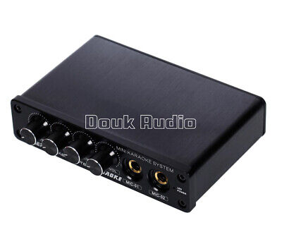Mini Audio Mixer Stereo Preamp with Microphone Input for Home KARAOKE System