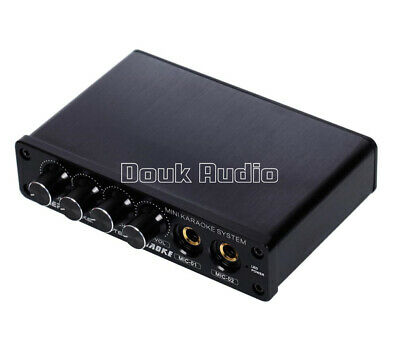 Mini Mixer KARAOKE System Audio Process Stereo HiFi Pre-Amplifier Microphone