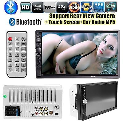 7'' HD Bluetooth Car Radio Stereo 2 DIN USB/AUX+Camera Touch Double MP5 Player