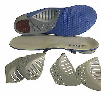 Sole Control Tri-Arch orthotics insoles, three variable arch supports, gel heels