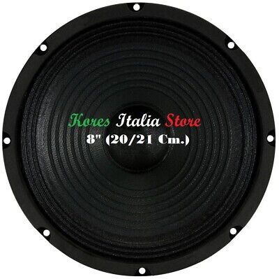 "Coppia Altoparlanti Woofer Mid-Woofer 13cm 130mm 5"" Pollici 2x 60 Watt RMS 4 Ohm"