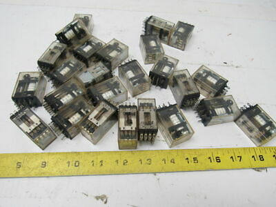 Omron G2A-432A 14 Pin Cube Relay 24VDC Used Lot of 25