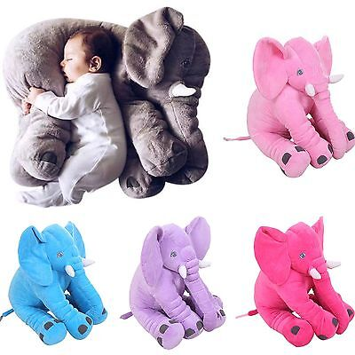 Baby Child Long Nose Elephant Doll Lumbar Pillow Soft Plush Stuff Toys Gifts R#