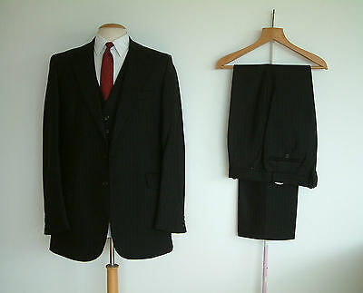 """1960's 3 PIECE SUIT..TAILOR MADE BY BURTON'S..42""""x 36""""..LONG/TALL..OUTSTANDING.."""