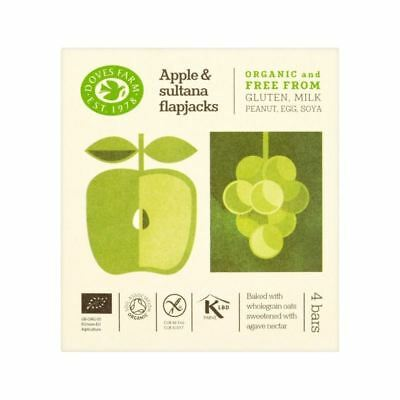Doves Farm GF Apple & Sultana Organic Flapjacks 4 x 35g